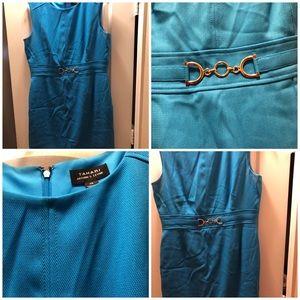 Aqua sleeveless dress size 14